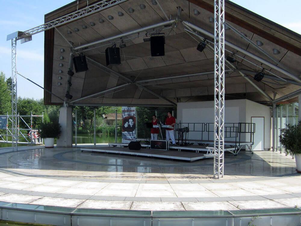 Kurkonzert auf der Seebühne im Kurpark Bad Staffelstein